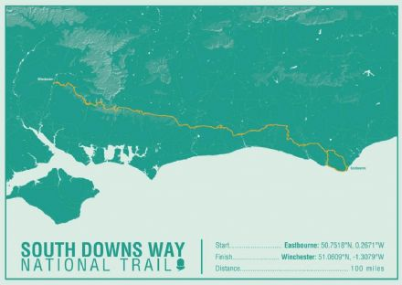 South Downs Way National Trail Map Print